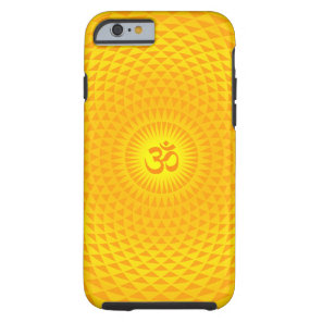 Yellow Golden Sun Lotus flower meditation wheel OM Tough iPhone 6 Case