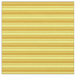 [ Thumbnail: Yellow & Goldenrod Pattern of Stripes Fabric ]