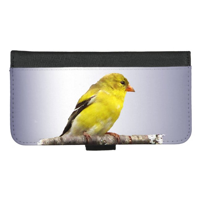 Yellow Goldfinch Bird iPhone 8/7 Plus Wallet Case