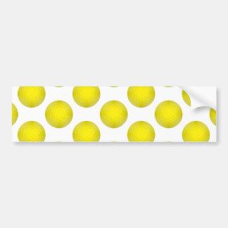 Yellow Golf Ball Pattern Bumper Stickers