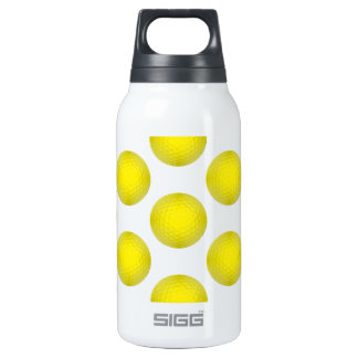 Yellow Golf Ball Pattern Insulated Water Bottle