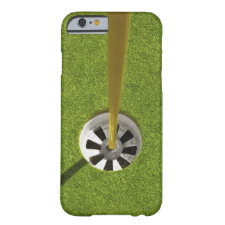 Yellow golf flag pole and hole iPhone 6 case