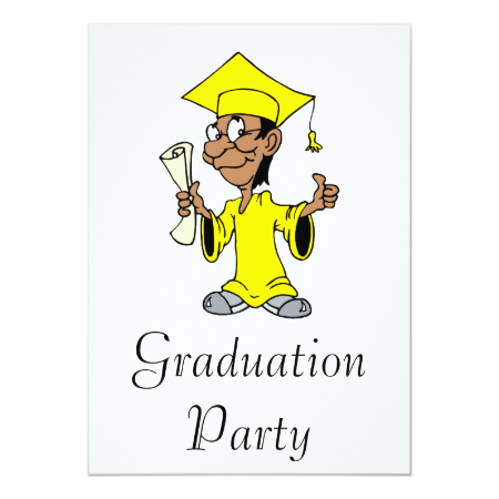Yellow Grad Invites