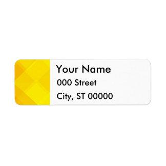 yellow gradient monochrome grid summer sun bright custom return address label
