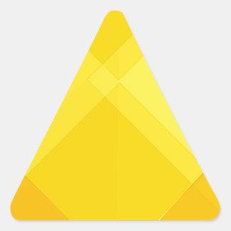 yellow gradient monochrome grid summer sun bright triangle sticker