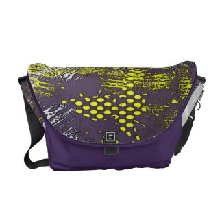 Yellow Graffiti Abstract Messenger Bag