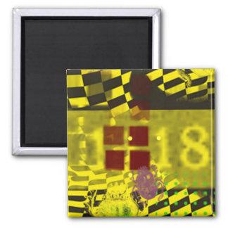 Yellow Graffiti Magnet