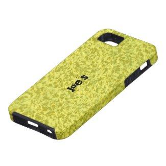 Yellow Granite iPhone 5 Covers