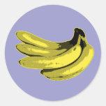 Yellow Graphic Banana Classic Round Sticker