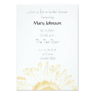 Yellow Graphic Sunflower Bridal Shower Card