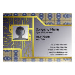 Yellow Grass Grid Business Cards