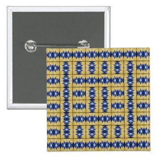 Yellow Grass Grid Pinback Buttons