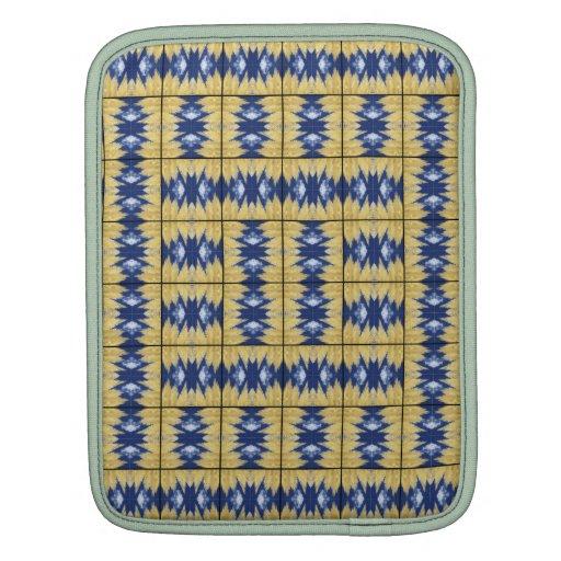 Yellow Grass Grid iPad Sleeves