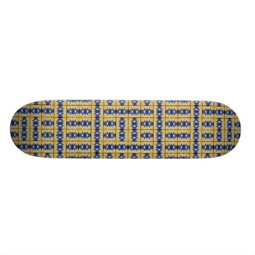 Yellow Grass Grid Skate Deck