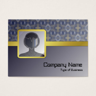 Yellow Grass Seamless Alternate Illusion Business Card