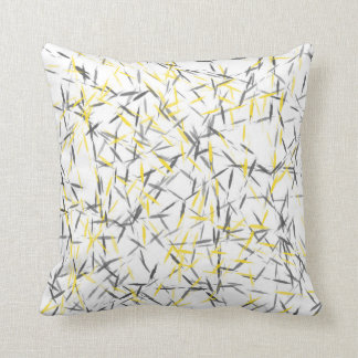 Yellow Gray Abstract Throw Pillow