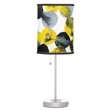 Yellow, Gray and Black Interactions Table Lamp