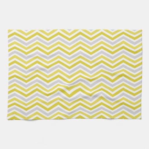 yellow gray and white chevron stripes towel zazzle. Black Bedroom Furniture Sets. Home Design Ideas