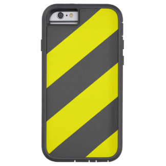 Yellow Gray Attention Warning Stripes Tough Xtreme iPhone 6 Case