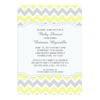 yellow_gray_chevron_baby_shower_invites_modern r4124261c0e0244ff9255c08a89bedc07_zk9gy_324?rlvnet=1 yellow and gray invitations & announcements zazzle,Yellow And Gray Invitations