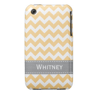 Yellow Gray Chevron iPhone 3g 3gs Case Mate Cover