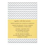 Yellow & Gray Chevron Wedding Invitations
