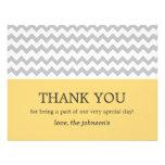 Yellow & Gray Chevron Wedding Thank You Cards Announcement