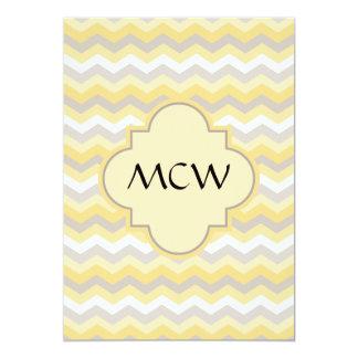 Yellow/Gray Chevron Zigzag Card