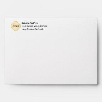 Yellow/Gray Chevron Zigzag Envelope