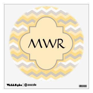Yellow/Gray Chevron Zigzag Wall Graphics