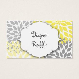 Yellow Gray Dahlia raffle ticket or insert card