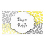Yellow Gray Dahlia raffle ticket or insert card Business Card Template