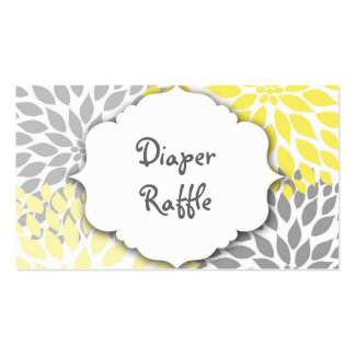 Yellow Gray Dahlia raffle ticket or insert card Double-Sided Standard Business Cards (Pack Of 100)