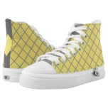 Yellow Gray Diamond Color of the Year High-Top Sneakers