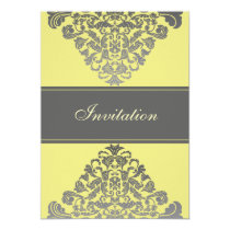 """yellow gray""  elegance wedding invitation"