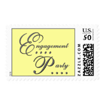 Yellow & Gray Engagement Party Stamp