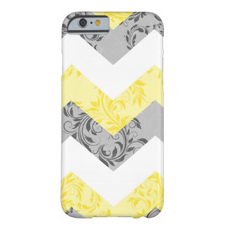 Yellow, Gray Floral damask chevron iPhone 6 case