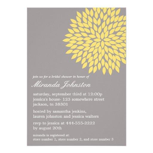 Bridal shower invitations bridal shower invitations for Yellow bridal shower invitations