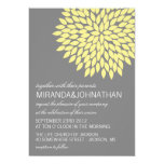Yellow & Gray Flower Design Wedding Invitations