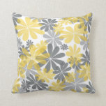 "Yellow &amp; Gray Flower Throw Pillow<br><div class=""desc"">This pillow will look so elegant on your sofa or bed!</div>"