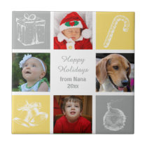 yellow gray four photos collage photo tile