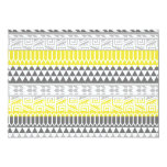 Yellow Gray Geometric Aztec Tribal Print Pattern Card