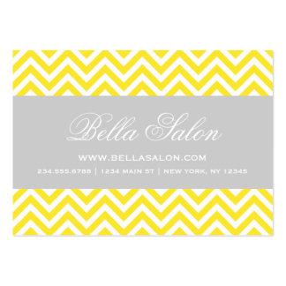 Yellow Gray Modern Chevron Stripes Business Card Template