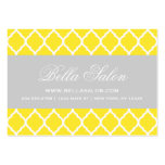 Yellow & Gray Modern Moroccan Lattice Business Card Template