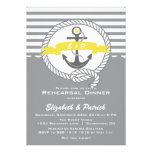Yellow & Gray Nautical Rehearsal Dinner Invitation