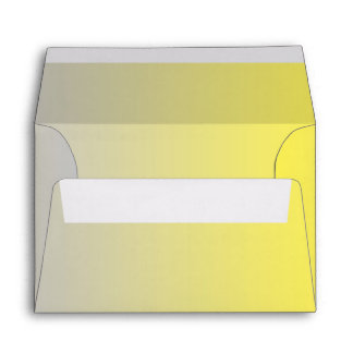 Yellow & Gray Ombre A6 Envelope