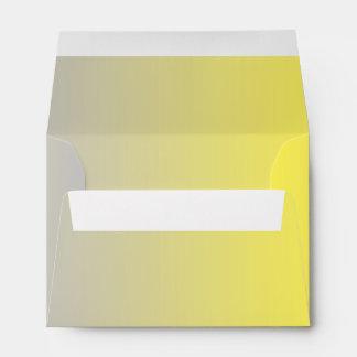 Yellow & Gray Ombre A6 Envelope