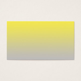 Yellow & Gray Ombre Business Card