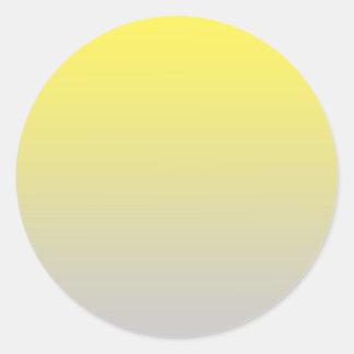 Yellow & Gray Ombre Classic Round Sticker
