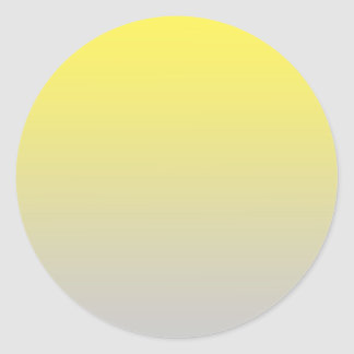 Yellow & Gray Ombre Classic Round Sticker
